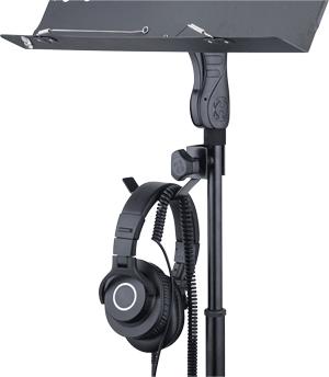 HERCURES HA700 ヘッドフォンホルダー 譜面台での使用例
