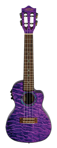 LANIKAI Quilted Maple Purple Stain Concert A/E Ukulele